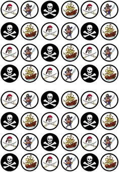 Pirate Birthday Cake, Adult Birthday Party, Pirate Decor, Pirate Theme, Edible Cupcake Toppers, Cupcake Icing, Edible Cake, Paper Cupcake, Wafer Paper Cake