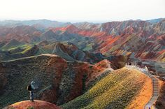 Danxia Landform, Zhangye, Gansu..  one of the most colorful and unique natural formations on earth
