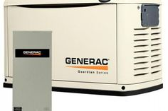 Generac 6462 Guardian Series, Air Cooled Standby Generator, Natural Gas/Liquid Propane Powered, Steel Enclosed, with Smart Automatic Transfer Switch (Discontinued by Manufacturer) Generators For Home Use, Emergency Preparedness, Survival, Propane Generator, Transfer Switch, Power Generator, Protecting Your Home, Electrical Engineering, Home Goods