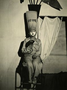 Claude Cahun. Solange Roussot in Barbe Bleue. 1929.                             via