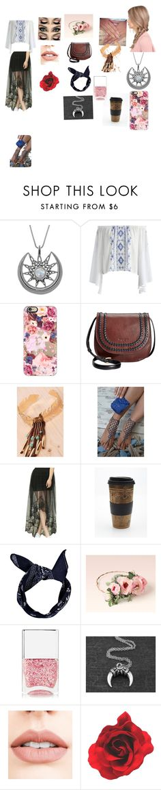 """""""Spring break is"""" by michaelagoldinger on Polyvore featuring Carolina Glamour Collection, Chicwish, Casetify, Tignanello, Free People, Boohoo, Nails Inc. and Jouer"""