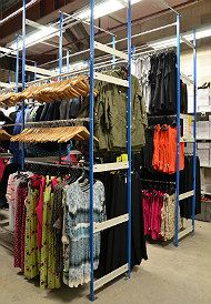 Garment Hanging Storage Solution With Multiple Hanging Levels