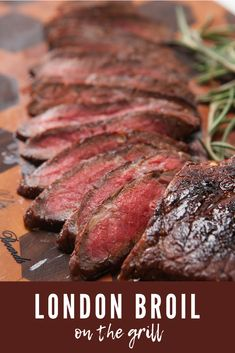 This London Broil Marinade is super simple and perfect for the grill! Loads of garlic red wine vinegar and Worcestershire round out the marinade for a steak that is both tender and flavorful! Steak Marinade Recipes, Meat Marinade, Grilled Steak Recipes, Grilled Beef, Grilling Recipes, Meat Recipes, Cooking Recipes, Grilled Food, Steak Marinades