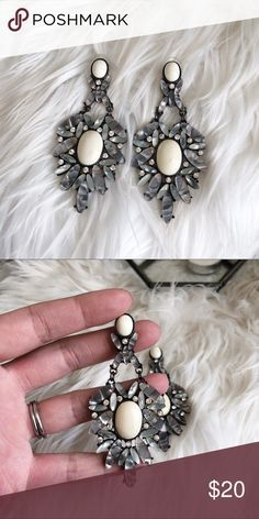 """Chandelier Statement Necklace • brand: boutique  • condition: new  • size: about 3""""  • description: beautiful statement earrings as shown  bundle to save! no trades/holds/try-ons. no price negotiations in the comments. always happy to work with offers.  ✨happy shopping!✨ Jewelry Earrings"""
