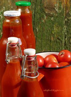 Ketchup, Jamie Oliver, Hot Sauce Bottles, Gravy, Good Food, Homemade, Vegetables, Red Peppers, Salsa