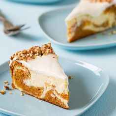 Carrot cake already goes well with cream cheese frosting, so a carrot cake-swirled cheesecake is the perfect flavor match. Get the recipe from Cooking Classy.   - Delish.com