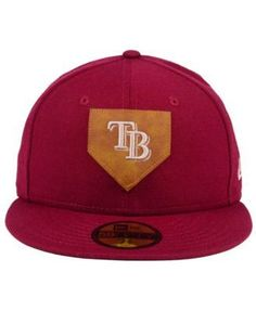 New Era Tampa Bay Rays The Logo of Leather 59FIFTY Fitted Cap - Red 7 1/2