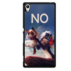 Grumpy Cat And The Lion Parody TATUM-4913 Sony Phonecase Cover For Xperia Z1, Xperia Z2, Xperia Z3, Xperia Z4, Xperia Z5