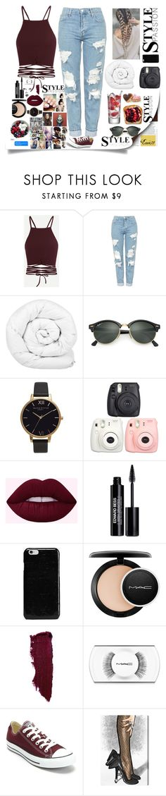 """""""#11#STYLE-PASSION"""" by emie78 ❤ liked on Polyvore featuring Topshop, Brinkhaus, Ray-Ban, Olivia Burton, Fujifilm, Edward Bess, Maison Margiela, MAC Cosmetics, GE and Converse"""