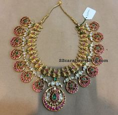 Heavy Antique Chokers with Rubies - Jewellery Designs