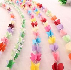 3D PAPER GARLAND HEART CIRCLE FLOWER BUTTERFLY STAR WEDDING PARTY in Home, Furniture & DIY, Celebrations & Occasions, Party Supplies | eBay!