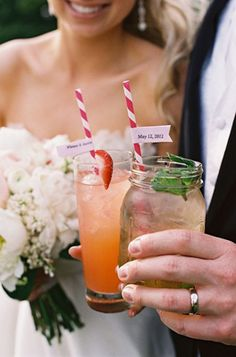 At many weddings, you'll get the standard selection of liquor. With the exception of a signature cocktail, your drink choices may be no different than last Saturday night. But with a smaller wedding, and less people consuming alcohol (it adds up even if you stock the bar with the cheap stuff!), you may be able to splurge on the best champagne and a selection of local beers. #weddingalcohol
