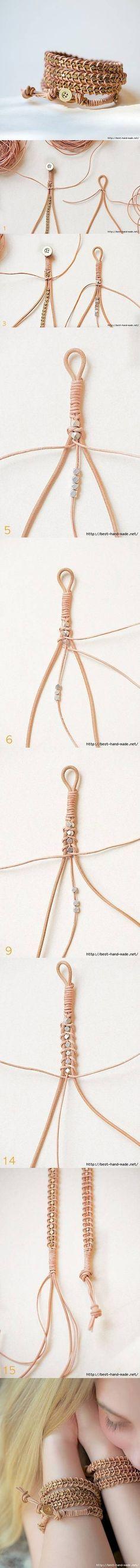 DIY Quick and Easy Braid Bracelet fashion bracelet diy diy ideas diy crafts do it yourself crafty