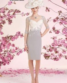 2 Pieces Bride Party Gowns Free Jacket Knee Length Mother Of The Formal Dresses Mother Of Bride Outfits, Mother Of The Bride, Evening Gowns With Sleeves, Evening Dresses, Party Gowns, Wedding Party Dresses, Prom Dresses 2017, Formal Dresses, Bride Dresses