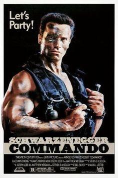 Commando (1985) Alyssa Milano Movies, Bill Paxton Movies, Joel Silver, Arnold Schwarzenegger Movies, Wall Prints, Poster Prints, Posters, Velvet Jacket, Cheap Hoodies