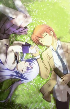 So much feels. I wanna cry. Kanade and Otonashi - Angel beats! Anime Angel, 5 Anime, Anime Shows, Anime Love, Kawaii Anime, Anime Art, Angel Beats!, Otaku Anime, Anime Girls
