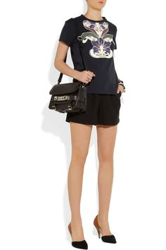 Carven | Embroidered cotton T-shirt | NET-A-PORTER.COM