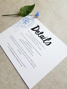 Floral wedding invitation set / Editable & Printable / available in my Etsy Shop ♥ Floral Wedding Invitations, Wedding Invitation Templates, Special Day, Digital Prints, Our Wedding, Reception, Printables, Etsy Shop, Unique Jewelry