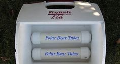 Polar Bear Tubes....a DIY way to keep you cooler cold.  No need to buy ice or those expensive frozen ice packages.  These can be used over and over.