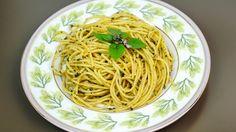 Espaguete ao molho pesto super fácil de preparar - http://www.casalcozinha.com.br/receita/espaguete-ao-molho-pesto/