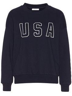 Sweatshirt Usa Print