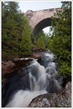 Duck Brook Bridge - Acadia National Park Acadia National Park, National Parks, View Image, Bridges, Waterfall, River, Stone, Outdoor, Outdoors