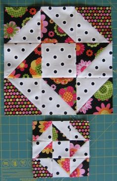 The Quartered Star Block Tutorial includes cutting and piecing instructions for completing both 12″ and 6″ finished blocks. The tutorial includes quick piecing methods to make the half-square triangles.