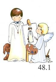 Resultado de imagen de dibujos de primera comunion para colorear