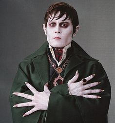 Johnny Depp as Barnabas Collins...I used to race home from school to watch Dark Shadows