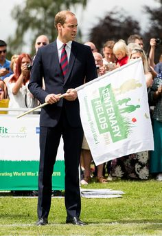 Prince William visiting Coventry War Memorial Park in July 2014.