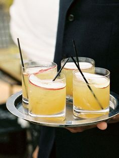 Going right along with the food trends, fall-themed signature cocktails that really highlight seasonal ingredients are must-haves. Bourbon a...