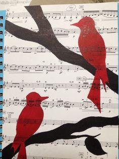 Another sheet music bird. (Well, birdS) IreneTheWorld