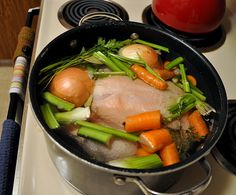 Poached Chicken Soup, Stock by Turntable Kitchen, via Flickr