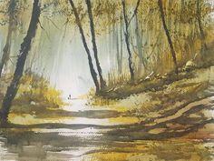 Sutton Park, Birmingham Original Art Watercolour Painting by Steven Cronin