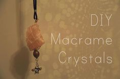 Macrame tutorial from Megan of Live Well and Breathe.