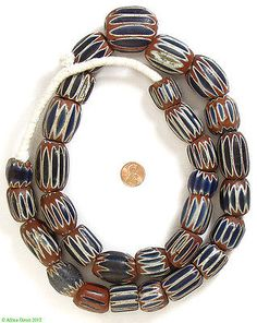 Seven-Layer-Chevron-Venetian-Trade-Beads-African-SALE-WAS-5520