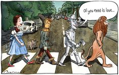 Version: The Beatles - Abbey Road - Cover - Seite 2 - Unterhaltung, Musik, Celebreties - NOX Archiv - Forum Abbey Road, Wizard Of Oz Memes, The Beatles, Pin Ups Vintage, Rock And Roll, Land Of Oz, Broadway, Yellow Brick Road, Over The Rainbow
