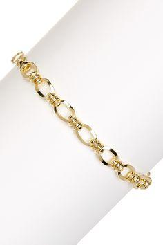 14K Yellow Gold Oval Link Bracelet by Candela on @HauteLook
