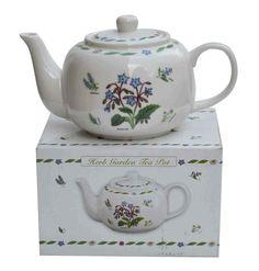 Herb Garden Design Fine China 4 CUP Teapot TEA POT NEW Last ONE   eBay