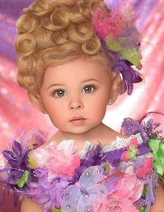 WHY do people have to whore up beautiful little girls with ADULT makeup? Baby Pageant, Glitz Pageant, Pageant Girls, Pageant Dresses, Beautiful Little Girls, Beautiful Children, Beautiful People, Pageant Photography, Pageant Headshots