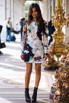 Love the print on this dress.