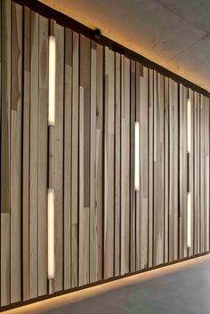 Creative wall design wood paneling interior decoration ideas lighting Source by freshideen