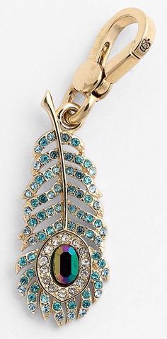 Juicy Couture Peacock Feather Charm