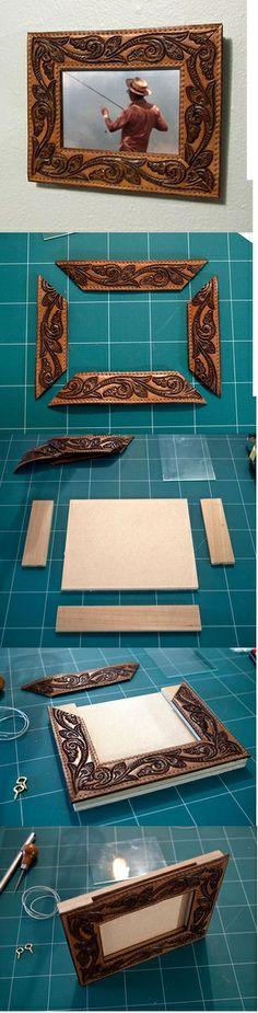 Western frame from old belt
