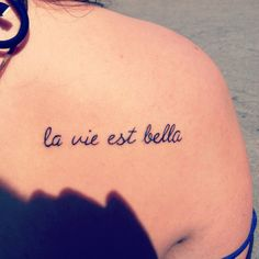 La vie est belle-life is beautiful