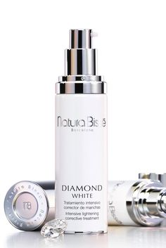 Natura Bissé Diamond White Serum available to buy at Harrods. Lighten Dark Spots, Glycolic Acid, Even Skin Tone, Luxury Beauty, Active Ingredient, Soap Dispenser, Colored Diamonds, Serum, How To Apply