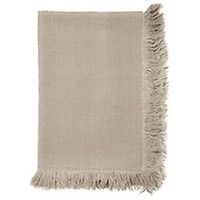 Fringed Linen Throw