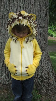 Lion Hoodie by GrowingMusesKids on Etsy