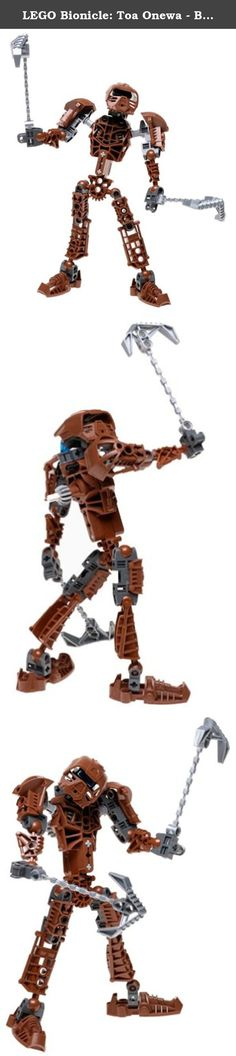 LEGO Bionicle: Toa Onewa - Brown. Toa Metru of stone and guardian of Po-Metru, Onewa is strong-willed and stubborn. No matter the odds, Onewa will never admit defeat -- he always finds a way to win. When his own strength and agility are not enough, he uses his proto piton tools and his Great Mask of Mind Control. Includes 44 LEGO pieces. Look inside for a special Kanoka card with a BIONICLE Instant Win game! Then enter the card's Kanoka code on BIONICLE.com to access secret BIONICLE...
