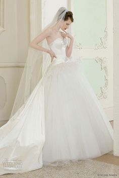 Enchanting Atelier Aimee Wedding Dresses 2014 Bridal Collection. To see more: http://www.modwedding.com/2014/01/13/atelier-aimee-wedding-dresses-2014-collection/ #wedding #weddings #fashion
